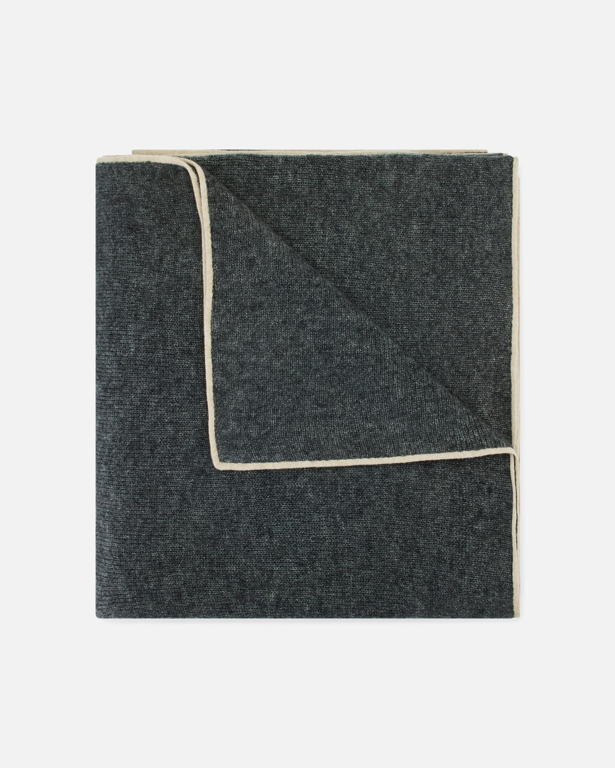 cashmere and silk blanket scarf anthracite franck namani